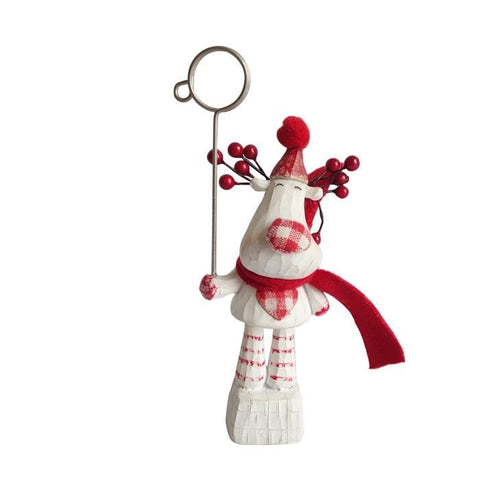 Reindeer Name Card Holder Decoration