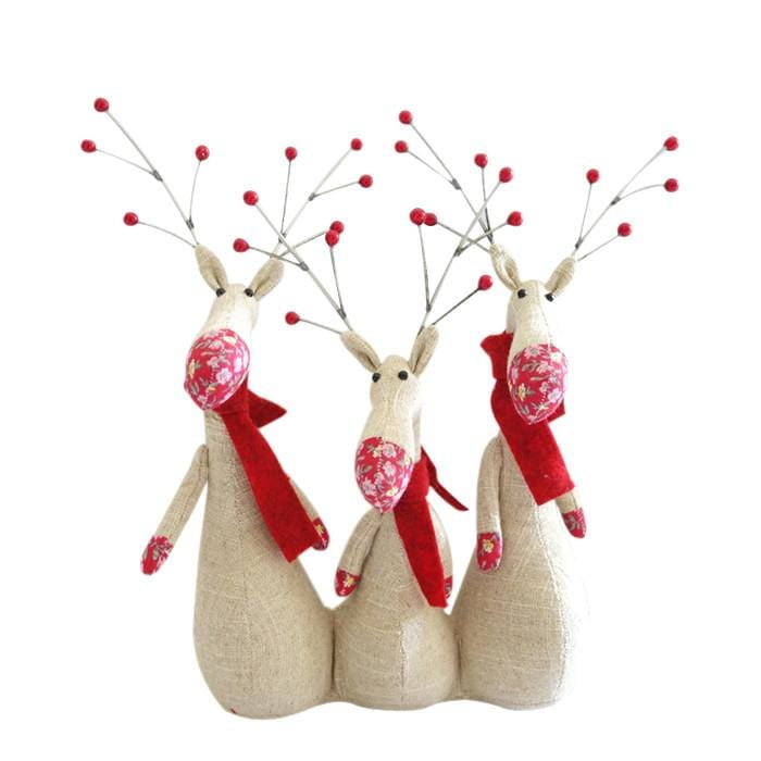 Triple Reindeer Decoration - Christmas World