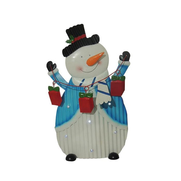 LED Metal Snowman Stake - Christmas World