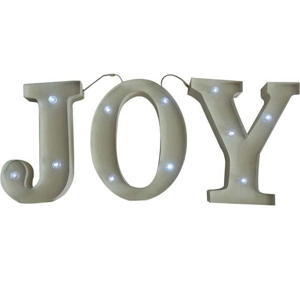 BACK IN STOCK: Christmas Metal JOY Decoration with Lights - Christmas World