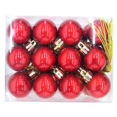 Box of 24 30MM Baubles - Red - Christmas World
