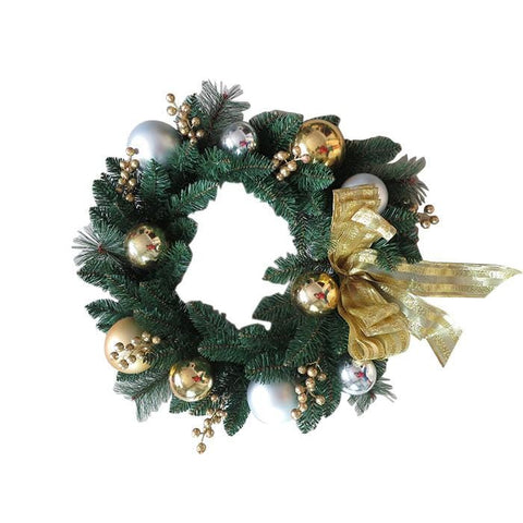 Gold and Silver Wreath with Berries - 80CM