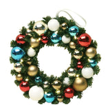 LED Bauble Wreath - Multi - Christmas World