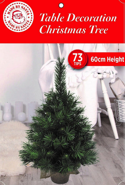 Jute Sack Base CHRISTMAS Tree - 60cm tall