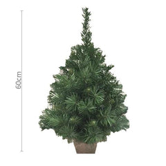 Jute Sack Base CHRISTMAS Tree - 60cm tall - Christmas World