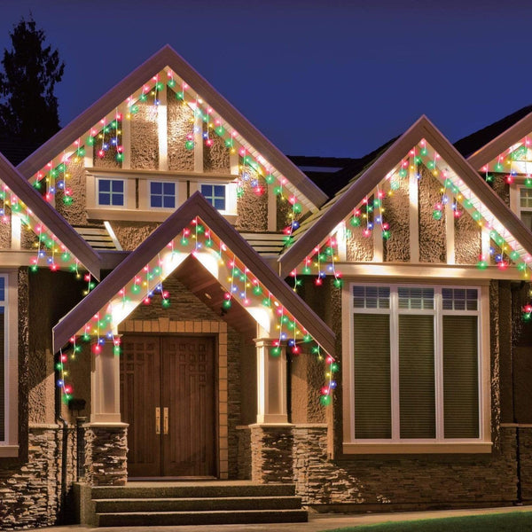 600 LED Icicle Lights 30M - Multi Colour - Christmas World