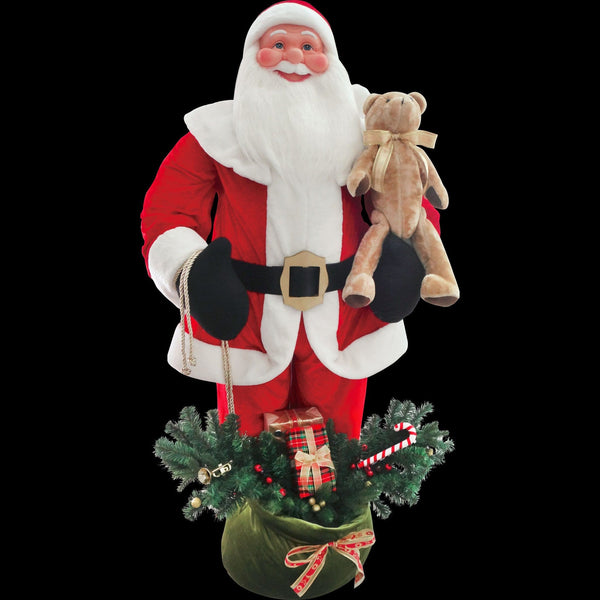 Giant Santa 180cm Sensor Music - Christmas World