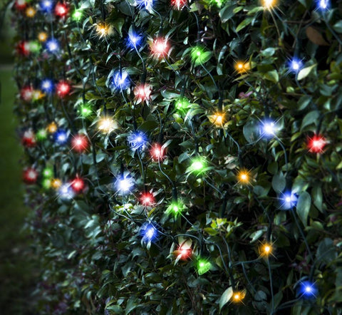 led net lights 320 leds waterfall effect multi colour - Waterfall Christmas Lights