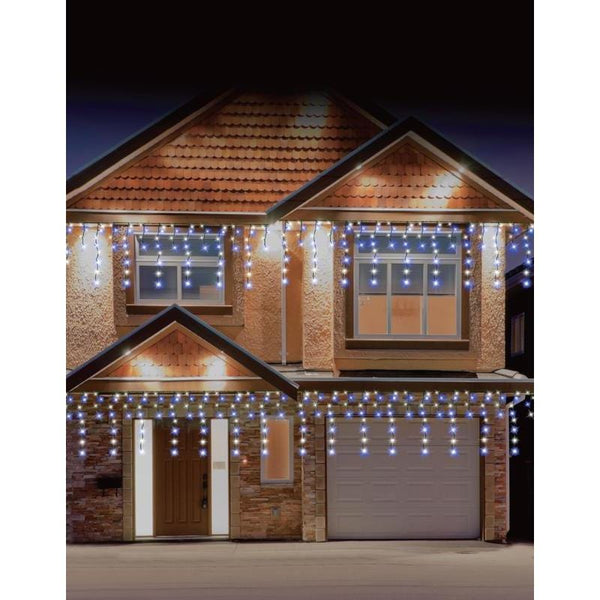 LED Snowing Icicles 816 White or White and Blue - Christmas World