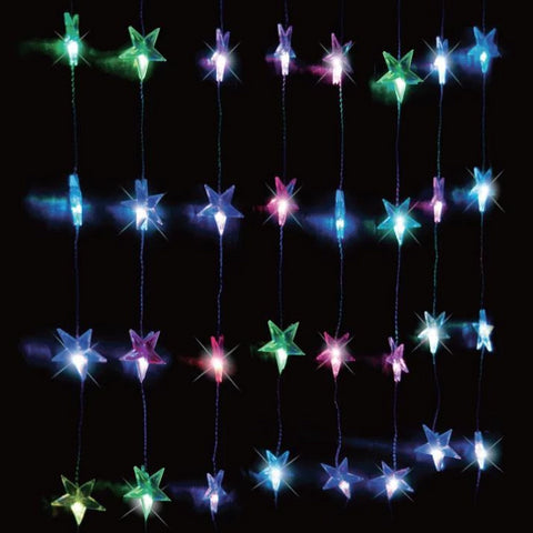 24 LED Colour Change Star Curtain Light
