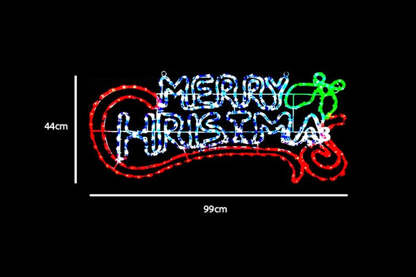 BACK IN STOCK: LED Merry Christmas Sign - Ropelight - Christmas World