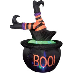 Inflatable Halloween Cauldron With Legs - Christmas World