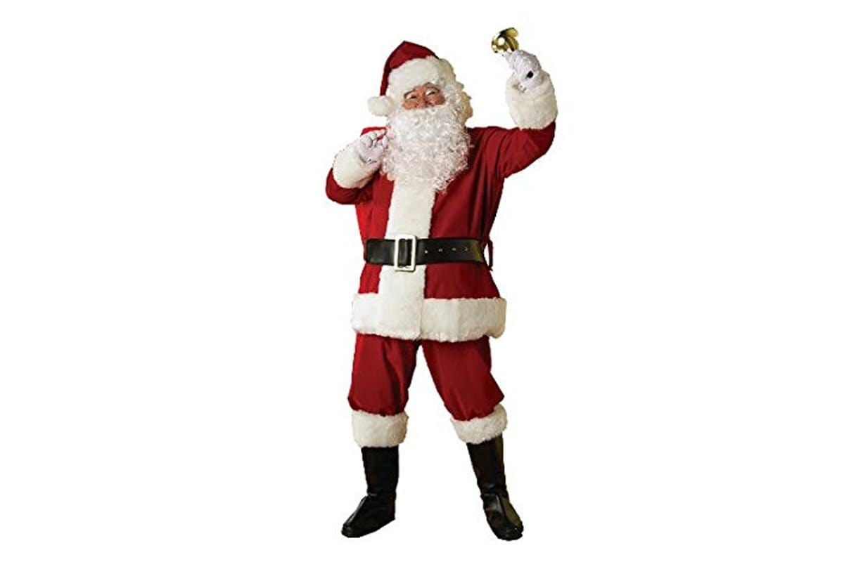 Deluxe Santa Claus Costume - 8Pieces - Christmas World