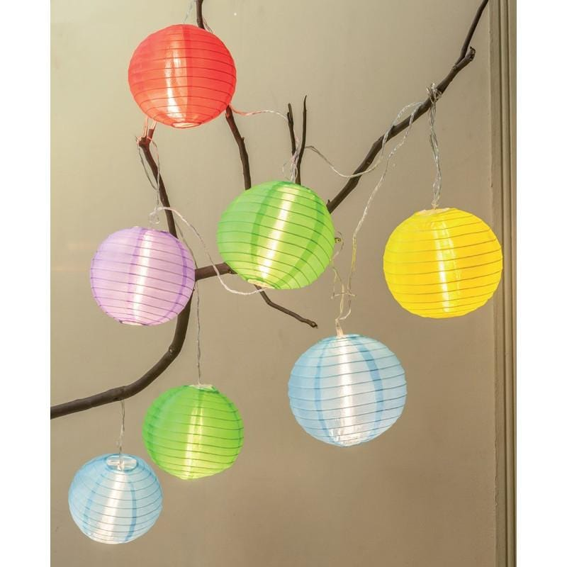 Solar LED Organza Lanterns 10pc - Christmas World