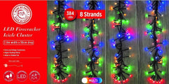 512 LED Firecracker Cluster Lights - Multi Colour - Christmas World