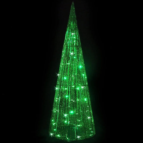 LED Glitt String Cone Tree 1.2m Green/Green