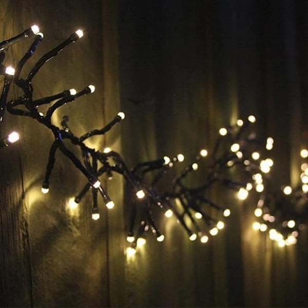 BACK IN STOCK: NEW ARRIVAL: LED CLUSTER LIGHTS 2000 WARM WHITE - 29m - Christmas World