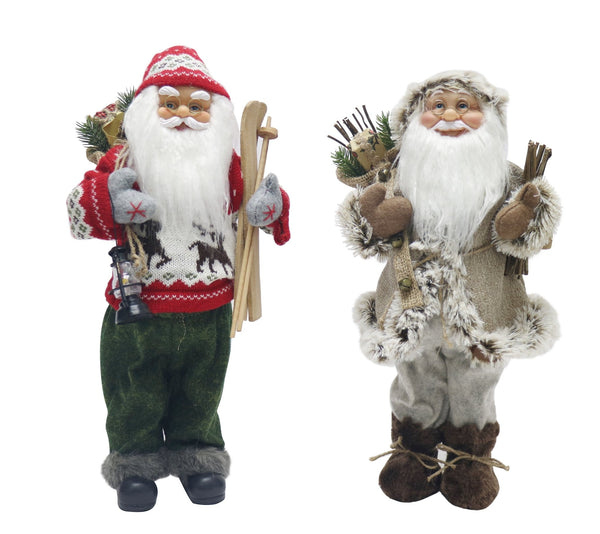 Santa Figurine - 45cm Available in 2 Styles