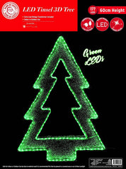 LED TINSEL 3D TREE 60cm