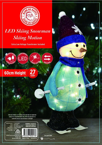 PRICE DOWN: NEW ARRIVAL: LED TINSEL SKIING SNOWMAN