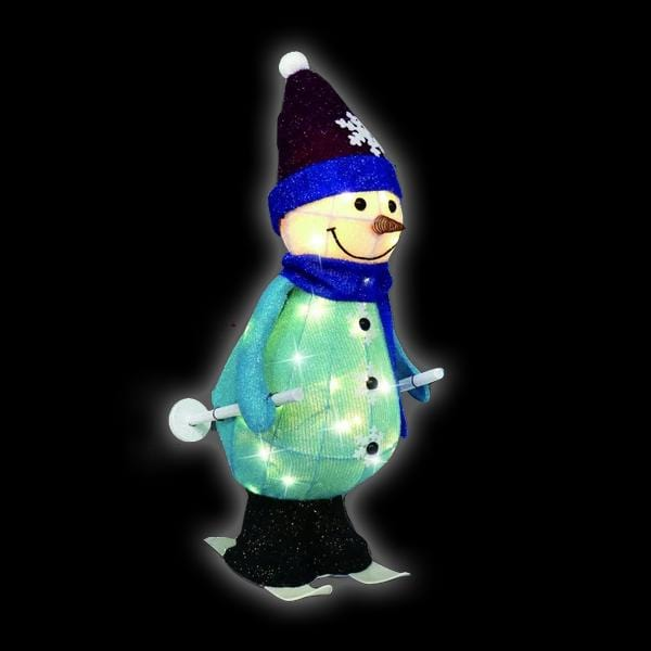 NEW ARRIVAL: LED TINSEL SKIING SNOWMAN