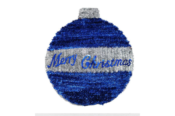 TINSEL BAUBLE PLAQUE 45cm