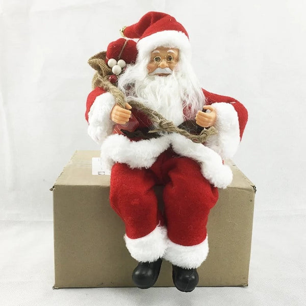 SELF SITTING SANTA 30cm