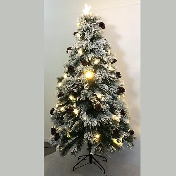 LAST STOCK: SNOWY FIBREOPTIC TREE 210cm WARM WHITE Lights