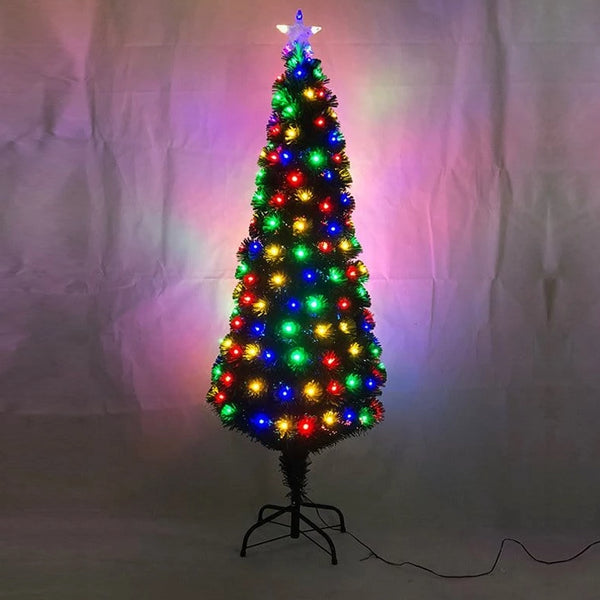 FIBREOPTIC TREE 150cm 185 MULTICOLOURED LEDS - Christmas World