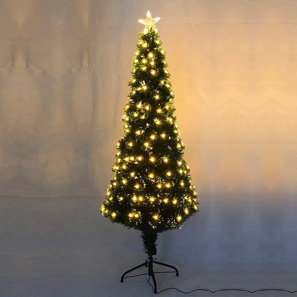 FIBREOPTIC TREE 150cm 185 WARM WHITE LEDS - Christmas World