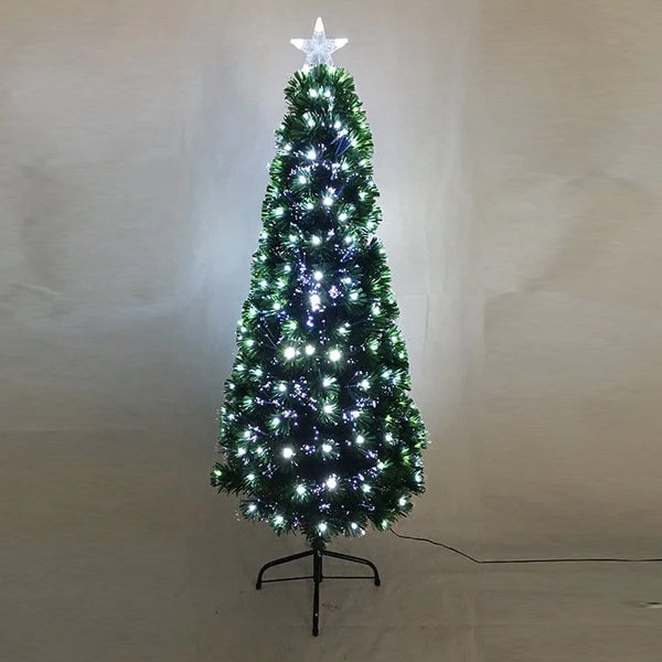 FIBREOPTIC TREE 180cm 248 COOL WHITE LEDS - Christmas World