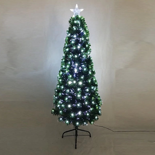 FIBREOPTIC TREE 150cm 185 COOL WHITE LEDS - Christmas World