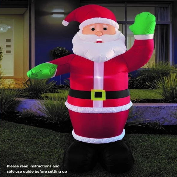 NEW ARRIVAL: AIRPOWER WAVING SANTA 2.4m