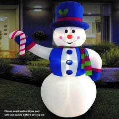 New Arrival: AIRPOWER SNOWMAN WITH CANDY CANE 2.4m