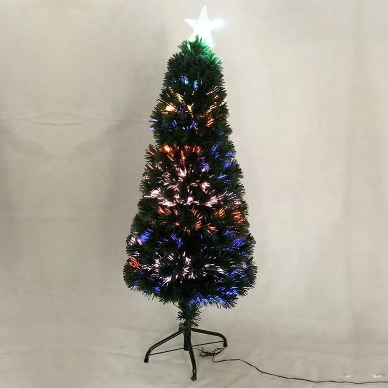 FIBREOPTIC TREE MULTI COLOUR 120cm - Christmas World