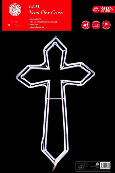 NEON LED FLEX STRIP CROSS WHITE 104cm