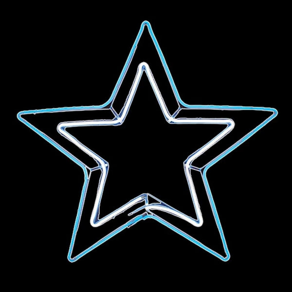 NEON LED FLEX STRIP 2D STAR FLASH WHITE-BLUE: 80CM