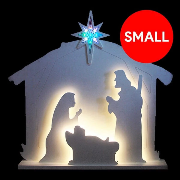 LED MDF NATIVITY SCENE
