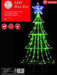 PRICE DOWN: LED WIRE TREE 150cm with STAR TOPPER