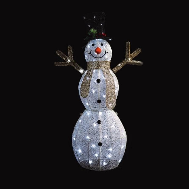 NEW ARRIVAL: LED SNOWMAN 120cm WHITE-CHAMPAGNE