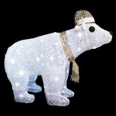 LED POLAR BEAR WHITE-CHAMPAGNE 80cm