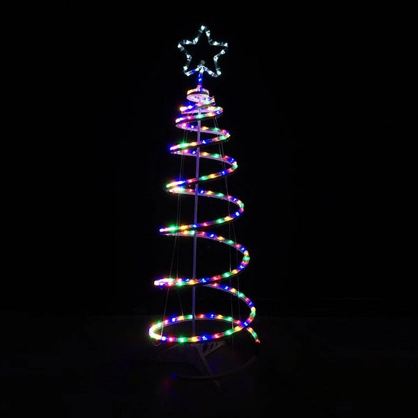 LED ROPELIGHT SPIRAL TREE 122cm