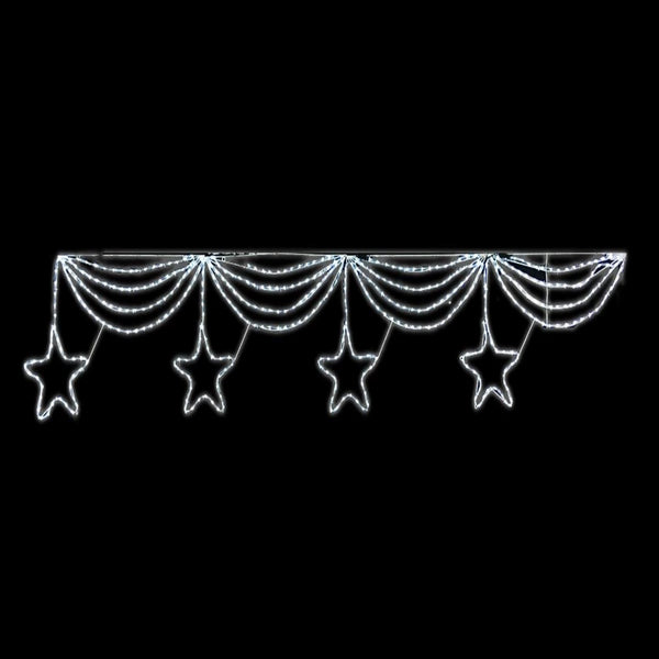 LED ROPELIGHT STARS BANNER 4pc: 3.2M Length