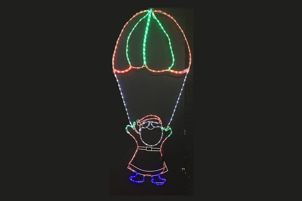 LED ROPELIGHT PARACHTUE SANTA