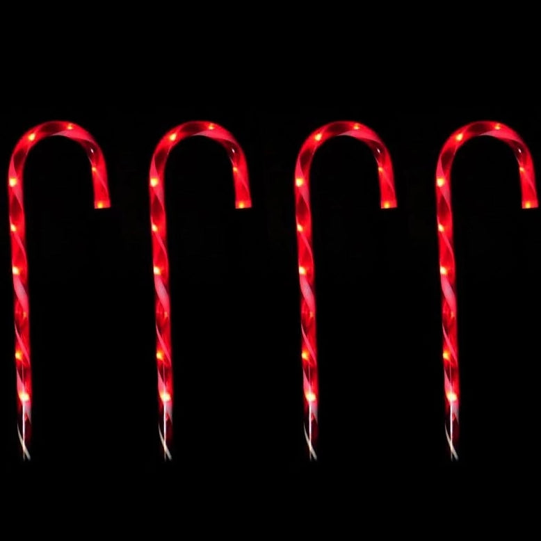 LED PATH CANDY CANE 4pc: 80cm Height