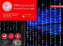 LED WATERFALL CURTAIN 1.2x2m MULTICOLOR