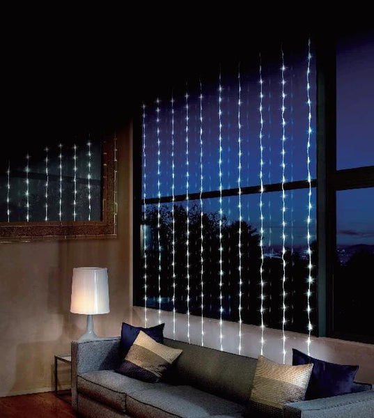 LED WATERFALL CURTAIN 4x2m WHITE