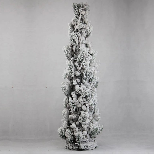 FLOCKED CONICAL TREE 90cm - Christmas World