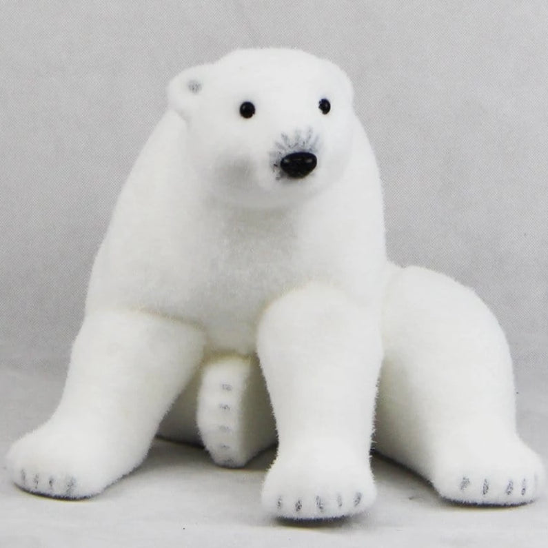 SITTING POLAR BEAR 30cm