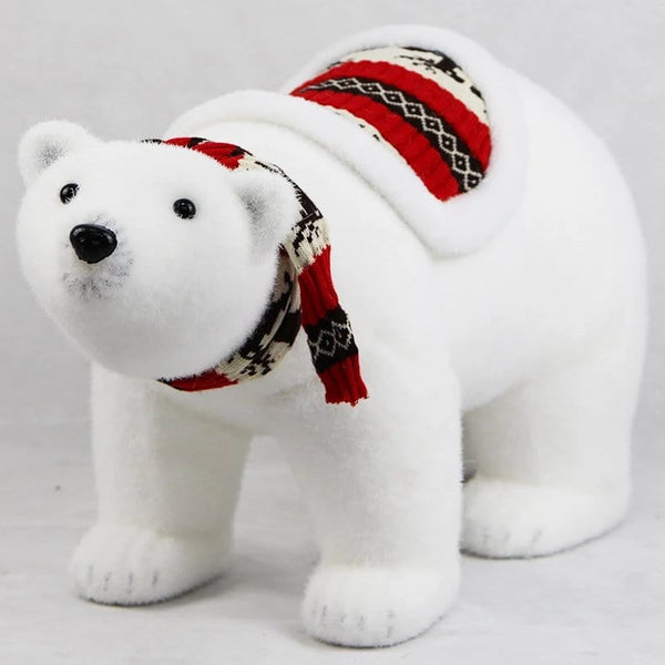 POLAR BEAR WITH SCARF AND SADDLE 55cm